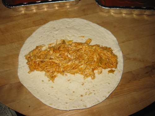 Filling enchiladas