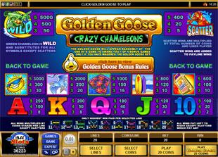 free Golden Goose Crazy Chameleons slot mini symbol