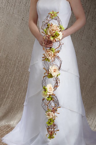 cascading wedding bouquet 2