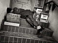 Thank for yo hel (The Lazy Photographr) Tags: street people urban toronto portraits blackwhite moody faces homeless gritty