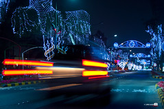 Got it ....Lights Trails (Shahbaz Hussain's Photography) Tags: road city blue light red sea brown white black color art love water colors car night dark lens stars lights photo nice nikon focus with view image royal trails it trail arab falcon shutter got inside kuwait 18200 q8 buss ahmadi hussain alkoot shahbaz d5000 flickraward ringexcellence