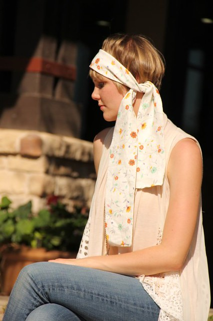 white scarf