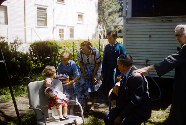 1957 06-23 Ekwall - Laurie Irene Ekwall Birthday, Cathie, Frances, Emil, and Ella