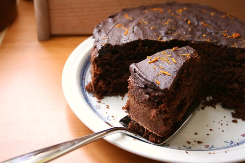Dark chocolate and orange cake 1