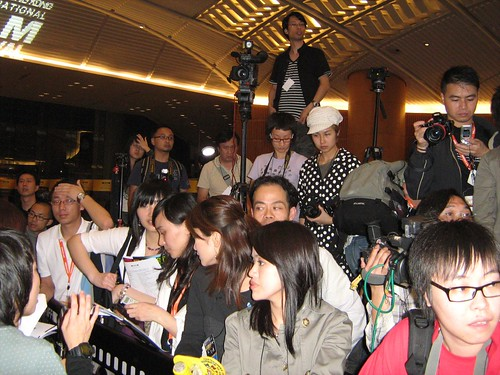 The press during the opening ceremony of HK International Film Fest