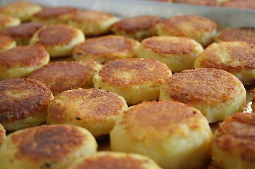 Potato Patties: Closeup