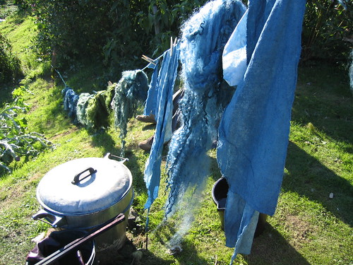 Indigo drying line