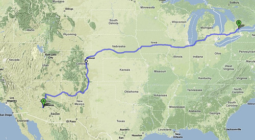 ROAD TRIP Phoenix Arizona To Gallup New Mexico Spacing Toronto - Map my vacation route