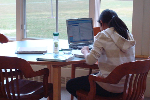 Laptop studying by Pesky Library, on Flickr