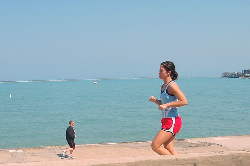 Jogging At The Lakefront