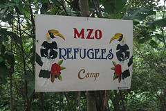 Refugee camp sign by Richard & Jo