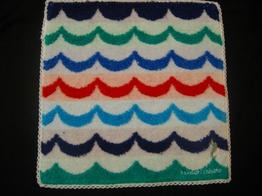 Waves patterned towel by Tsumori Chisato