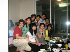 Students in my apartment for dinner