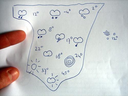 El dedo en el mapa. Foto cortesía de JasperVisser