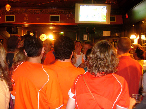 Dutch football fans, London