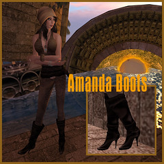 Beauty Avatar AMANDA Boots (Anessa Stine) Tags: amanda water hat fashion model shoes glow boots avatar footwear heel suede pointed onyourtoes anessastine secondlife® sl™ beautyavatar