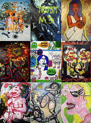 (shoehorn99) Tags: nyc streetart dave graffiti boards celso infinity elc queens elbowtoe danny gaia metzger ceito ftrainer licul tefsukaz galeriepulaski sorryifileftanybodyout