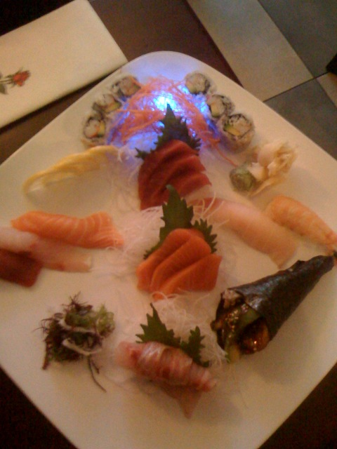 A really beautiful sushi plate