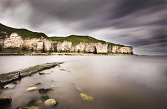 North Landing, Flamborough (Corica) Tags: longexposure greatbritain sea england beach clouds landscape waves wind britain yorkshire cliffs northsea gb sigma1020mm flamborough eastriding northlanding corica canon400d