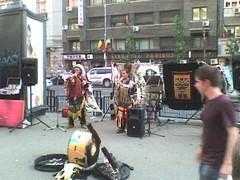 RAZA muzica peruana amerindieni zulu Piata Romana Romania 4