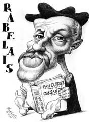 RABELAIS, Franois (Morales de los Ros) Tags: writers caricaturas philosophers caricatures escritores filsofos