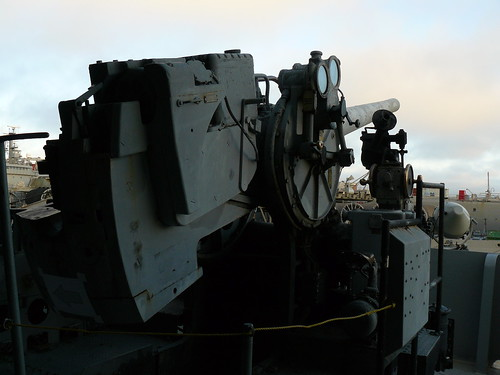 Anti-aircraft artillery position on the U.S.S. Hornet
