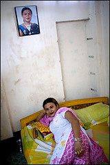 Payal lying on bed - Bangladesh (Maciej Dakowicz) Tags: male home bed asia interior transgender transvestite homosexual bangladesh gender payal transsexual hijra
