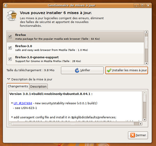 Firefox 3.0.1 dans Hardy Proposed