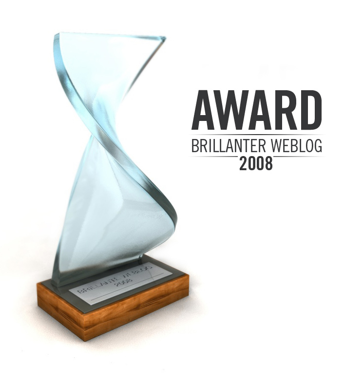 the brillant and best web blog award