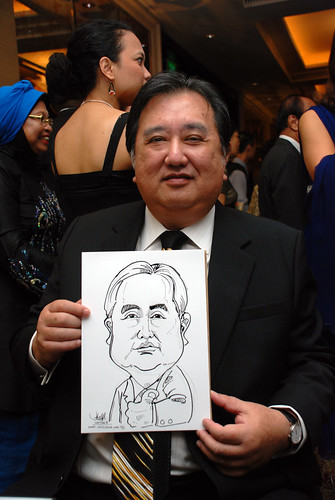 caricature live sketching for wedding dinner 120708  - 10