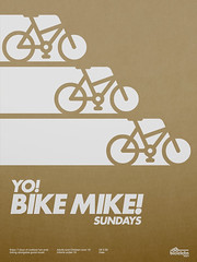 Yo! Bike Mike! Poster (_Untitled-1) Tags: mike bike bicycle paper poster design screenprint graphic metallic yo stock bikes bicicleta osaka network futura