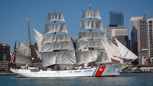 USCG Barque Eagle off San Francisco waterfront