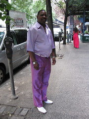 The Color Purple (kittiegeiss) Tags: man shiny purple lavender satin slippery whiteshoes loafers lightpurple