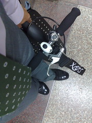 Riding the Xootr MG kick scooter