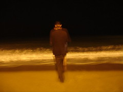 away (vineetdiwadkar) Tags: barcelona beach night beard french glasses spain hand wave barceloneta moment rolled hunched hornrim
