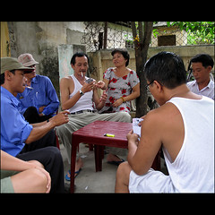 The Game (7 players in a 4 hand card game) (NaPix -- (Time out)) Tags: game river perfume smoking vietnam explore card players tension hue suspense hu napix behindeverysuccessfulmanthereisawoman 7playersina4handcardgame