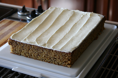 Banana Cake w/ Cream Cheese Frosting