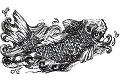 even more doodling... (DSDesigns (Debra Sutton)) Tags: art drawing koi doodling koifish zentangles