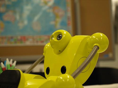 背景ぼけてロボット