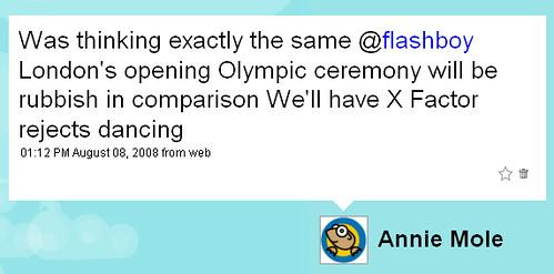 X Factor Olympics on Twitter