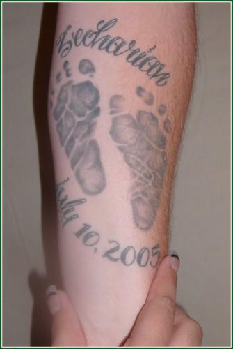 footprints tattoos. Footprints 14:365
