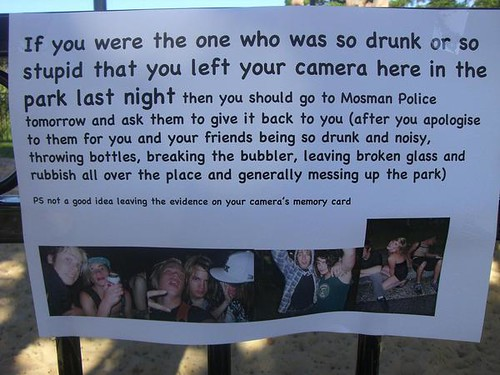 funny note from neighbor to drunk girl