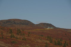 Civilisation, High on a Distant Hill (Boundary, AK, USA) (Joe Ruffles) Tags: crossing border gps ocanada