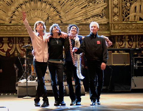 Los Rolling Stones en Shine a Light