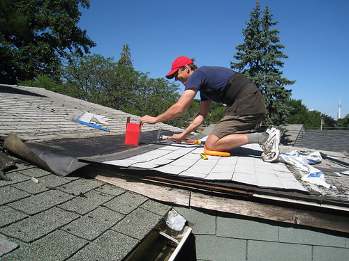 Greg fixing roof