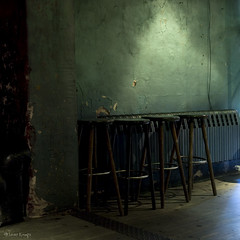in a bar, under the sea (moggierocket) Tags: light berlin green wall bar square barstools alternative 500x500 nikond200 winner500 moggierocket