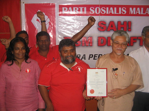 PSM leaders with party registration certificate