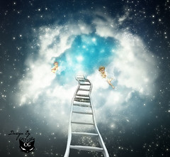 Ascend to heaven (  T_ !  ) Tags: blue light sky love girl angel cat stars heaven kuwait mercy ascend q8        photoartbloggroup