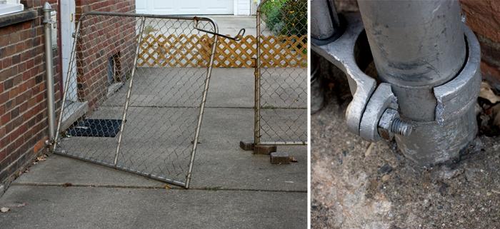 broken fence!