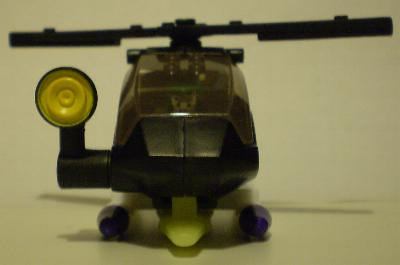Front view of The Joker Helicopter